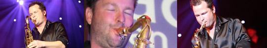 Saxofonist Arnout Bronkhorst