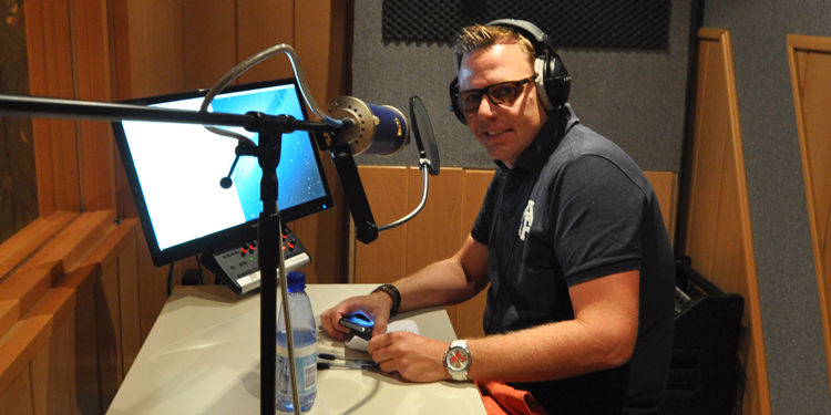 Voice-over opnemen Edwin Ouwehand in Mediasaloon